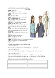 English Worksheet: Physical Description (Dialogue and exercises)