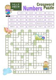 Crossword on Numbers
