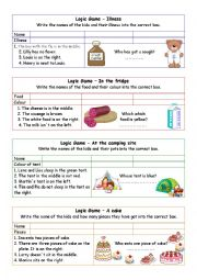 English Worksheet: Logic games for young learners-02 (+key)