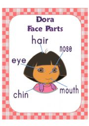 English Worksheet: Dora face parts poster