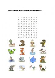 wordsearch animals