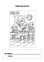 English Worksheet: 1st class portfolio cover