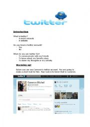 English Worksheet: Twitter