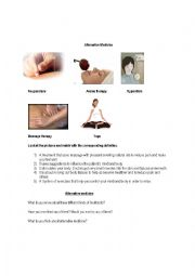English Worksheet: Alternative Medicine