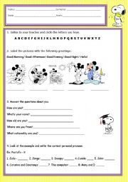 English Worksheet: Revision Test for 3rd grade