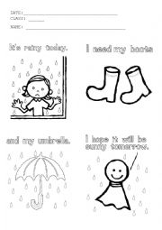 Rainy day :( - ESL worksheet by nayarita