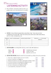 English Worksheet: Listening Activity- What´s your city like? DESCRIBING PLACES