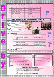 English Worksheet: Drive by (Train)