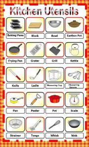 English Worksheet: Kitchen Utensils_Pictionary