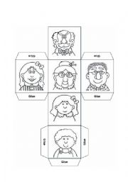 English Worksheet: FAMILY DICE