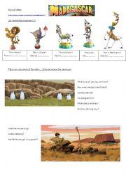 English Worksheet: MADAGASCAR Musical Video!