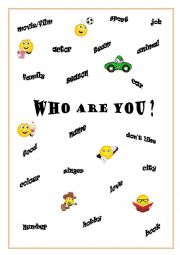 English Worksheet: Who Are You ?