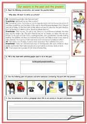 English worksheet: Guided writing