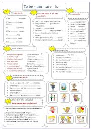 TO BE (Positive/negative/interrogative) Adjectives+Pictures