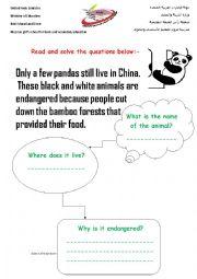 english worksheets endangered animals. Black Bedroom Furniture Sets. Home Design Ideas