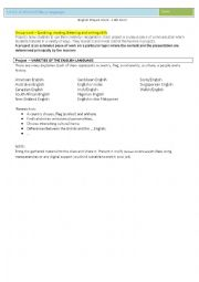 English Worksheet: varieties of the english language- 10th Form