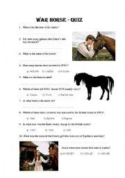 English Worksheet: Steven Speilberg + War Horse