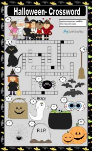 HALLOWEEN - CROSSWORD
