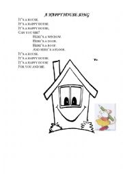 English Worksheet: A happy house chant