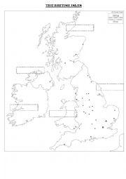 English Worksheet: British Isles
