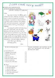 English Worksheet: Can for abilities