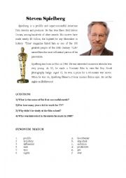 English Worksheet: Steven Spielberg + War horse
