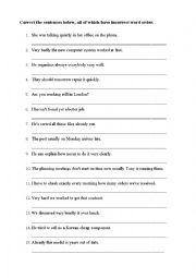 English worksheets: ESOL Linguistics Lesson Plan: Syntax