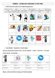 English Worksheet: Hobbies & talents