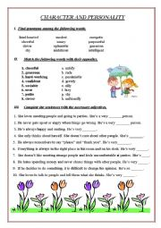 English Worksheet: Character and Personality (+Answer Keys)