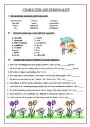 english worksheets personality worksheets page 9. Black Bedroom Furniture Sets. Home Design Ideas