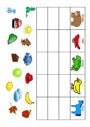 English Worksheet: Brown Bear, cut and paste activity
