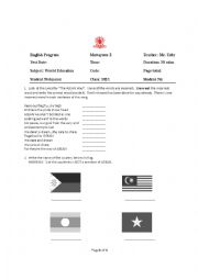 English Worksheet: An Exam for ASEAN studies & World Geography