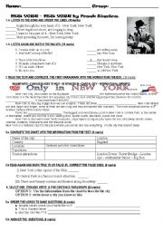 English Worksheet: Test: Places in the world. (New York)