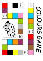 Colours board game