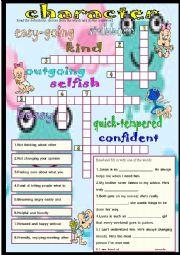 English Worksheet: character