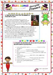 English Worksheet: Here comes the circus! - Part Two