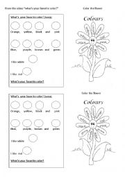 what´s your favorite color?  song and activities