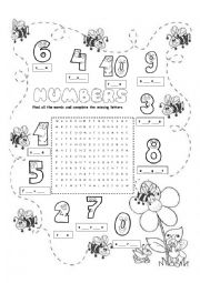 English Worksheets: numbers 0-10