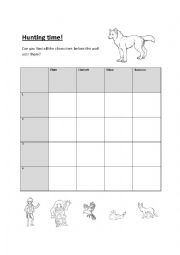 English Worksheet: Peter and the Wolf battle ships board
