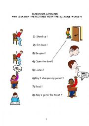 colors,numbers,classroom language