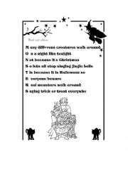 English Worksheet: Poem. Read and colour