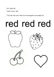colour red worksheets Colouring Pages (page 2)