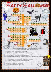 English Worksheet: Halloween - word puzzle