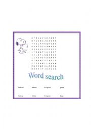 English Worksheet: Crossword: Parts of the house