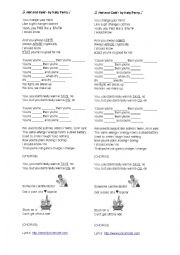 English Worksheet: Song: Hot&Cold