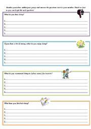 Gerunds Writing Activity - ESL worksheet by kairyudo