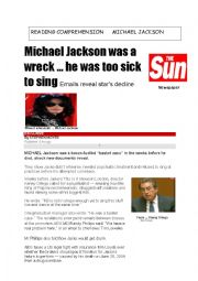 reading comprehension Michael Jackson
