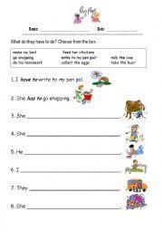English Worksheet: Penpals