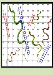 Snakes and Ladders: revision game beginner/elementary adult students