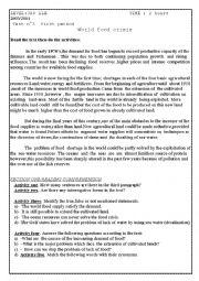 English worksheet: third yar secondary school students eexamination